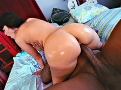 Ava Dalush bounce her thick oiled ass on a monster cock