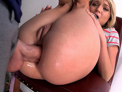 Young babe Dakota Skye gets stiff dick in her butthole