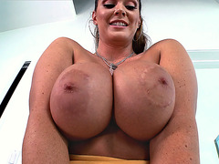 Alison Tyler has an amazing pair of huge fake boobs
