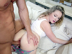 Willow Lynn getting her wet cunt slammed in doggie