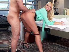Summer Brielle got fucked standing up in the office