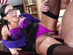 Ariella Ferrera enjoys hardcore sex on her desk