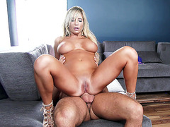 Busty blonde bombshell Tasha Reign having an anal ride
