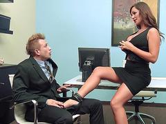 Destiny Dixon ordered her co-worker lick her feet