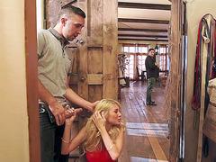 Kayla Kayden cheating on her bf as she sucking random guy