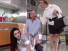 Johnny fucks Veruca James in front of his wife