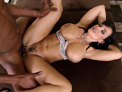 MILF pornstar Lisa Ann taking hard black jimbo