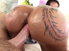 Bella Bellz taking thick dick in her ass hole