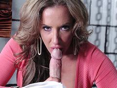 Richelle Ryan gives Johnny a POV blowjob