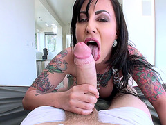 Dollie Darko sucks and tit fucks Danny's pole
