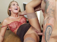 Carter Cruise getting her sweet pussy drilled at work